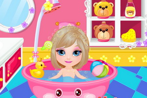 download baby barbie shower fun game