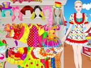 Barbie Clown Princess Dressup