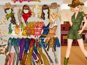 Barbie Western Dressup