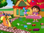 Dora Birthday Bash Cleaning
