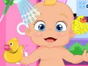 Adorable Little Baby Bath