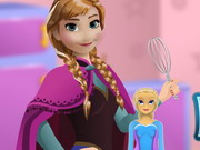 Anna Cooking Frozen Cake