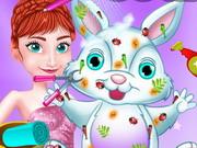 Anna gondozza a húsvéti nyulat