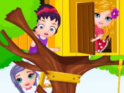 Baby Barbie Builds A Treehouse