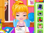 homework slacking games barbie
