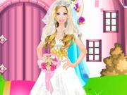 لعبة تلبيس باربي فستان الزفاف الابيض
