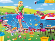 Barbie Swimming Pool Cleaning Play The Girl Game Online
