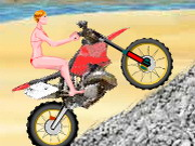 Homokparti motorozás