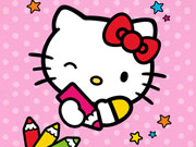 Color By Number With Hello Kitty