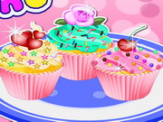 Finom színes muffinok