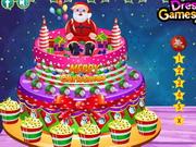 Krémes karácsonyi torta