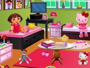 Dora's Hello Kitty Room Decor