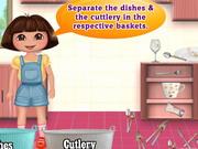 Dora Washing Dishes