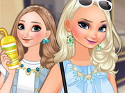 Elsa and Anna Go Shopping