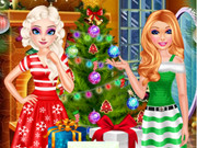 Elsa And Barbie's Christmas Eve