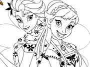 Elsa Anna Sisters Coloring