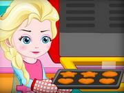Elsa kekszet készít