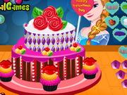Elsa's Valentine's Day Cake