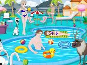 Frozen Pool Party Decoration