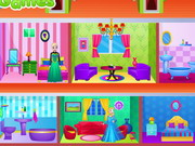 frozen sisters doll house decor - House Decorating Games