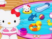 Hello Kitty Swimming Pool Decor