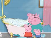 Peppa Pig limpia el baño