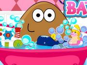 Pou Girl Bathing Day