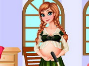 Pregnant Anna Room Cleaning