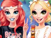 Princesses Rock Concert Style