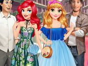 Rapunzel And Ariel Double Date