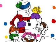 Snowman Coloring Book Frozen