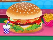 Hamburger dekoráció
