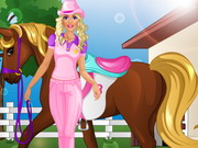 barbie goes horse riding play the girl game online