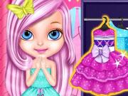 Kicsi Barbie karácsonyi  póni kösztümmel