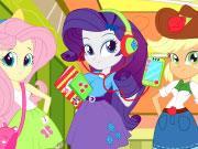 Kicsi póni lányok iskolába mennek